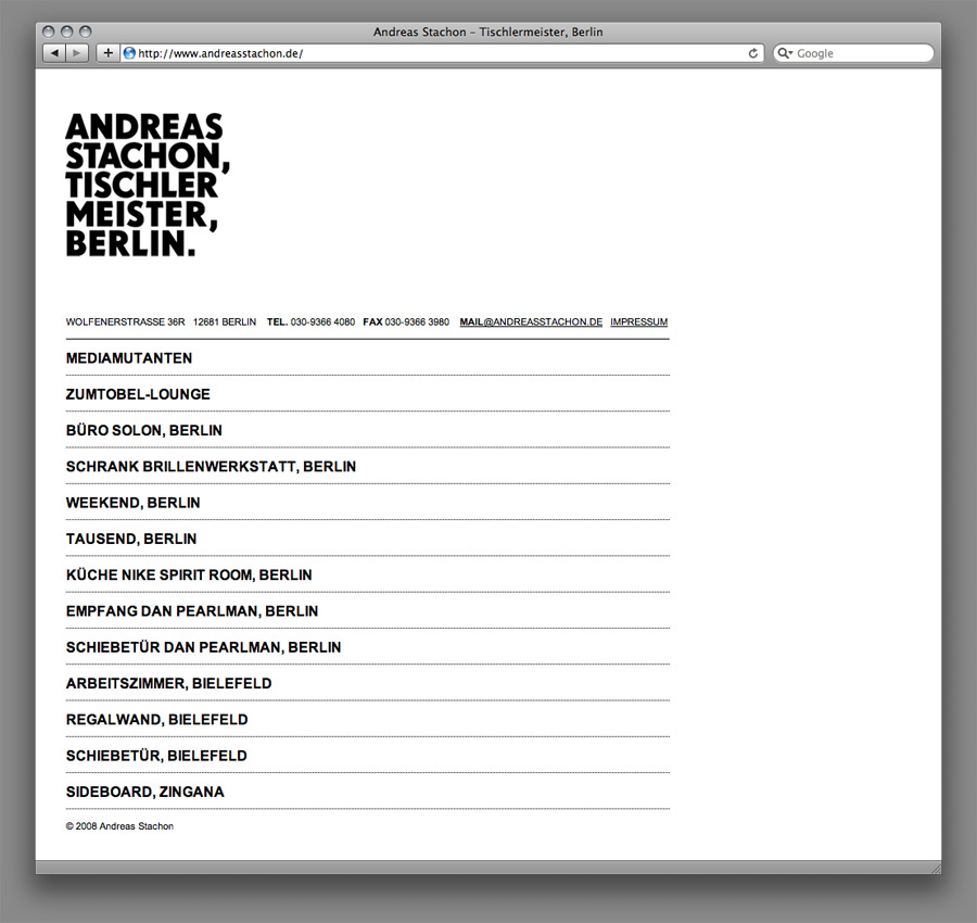 Andreas Stachon Website